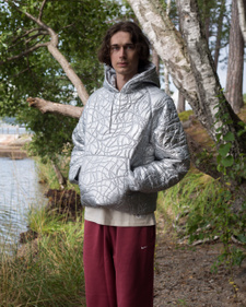 ERL                                                Hooded Puffer Jacket - Silver