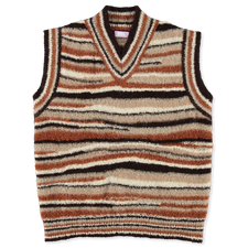 ERL                                                Striped V-Neck Vest - Brown