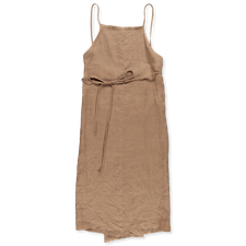 Baserange Yumi Apron Dress - Khata Brown