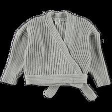 Baserange Mea Wrap Pullover - Grey Melange