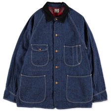 orSlow Check Lining 1950's Coverall - Navy
