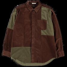 Engineered Garments  Combo Short Collar Shirt - Brown
