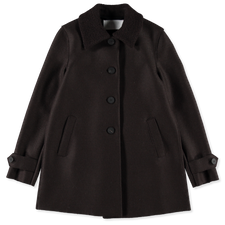 Harris Wharf London Loden Coat - Dark Brown