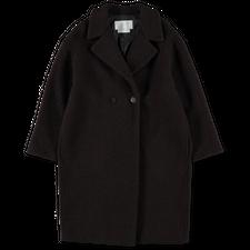 Harris Wharf London Dropped Shoulder DB Coat - Dark Brown