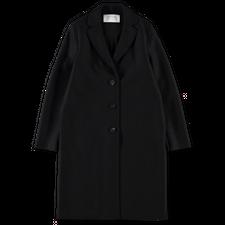 Harris Wharf London Pressed Wool Overcoat - Black