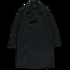 Harris Wharf London Long Pressed Wool Peacoat - Dark Blue