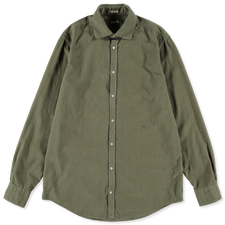 Massimo Alba Canary Baby Cord Shirt - Army