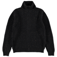 Massimo Alba Bergen Wo/Yak/Cash Zip Sweater - Navy