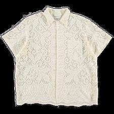 Bode                                               Ooak Quaker Lace SS Shirt - Ecru