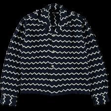 Bode                                               Zig-Zag LS Shirt - Blue / White