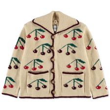 Bode                                               Cherry Knit Cardigan - Natural