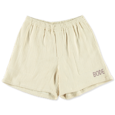Bode                                               Basketweave Rugby Shorts - Ecru