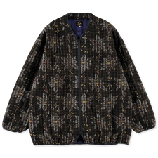 Needles Piping Quilt Jacket - Flower Plaid - Brown