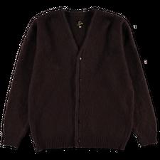 Needles Mohair Cardigan - Solid - Dark Brown