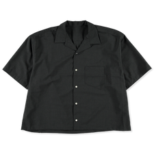 Sillage                                            Essential SS Overshirt - Charcoal