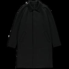 Harris Wharf London Fly Front Raglan Coat - Black