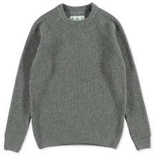 Barbour White Label                                  Shore Knitted Crew - Grey Marl