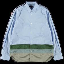 Comme des Garçons Homme                            Patch Hem Shirt - Blue/White/Green