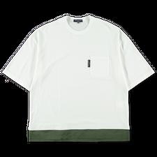Comme des Garçons Homme                            Double Hem T-shirt - White/Khaki