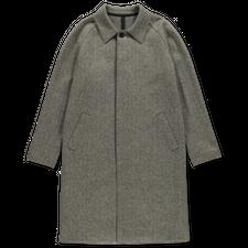 Harris Wharf London Fly Front Raglan Coat Herringbone - Middle Grey