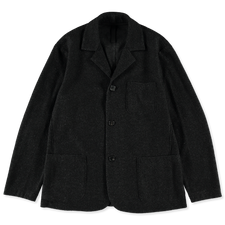 Harris Wharf London Dropped Shoulder Jacket Twilled Terry - Anthracite