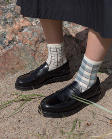 Our Legacy                                         Front Strap Penny Loafers - Black