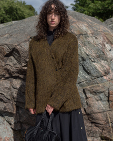 Our Legacy                                         Mid Line Cardigan - Olive Mohair