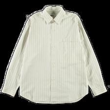 Margaret Howell MHL Oversized Work Shirt - Offwhite/Khaki/Ink