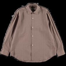 mfpen Generous Shirt Seersucker - Brown Check