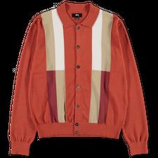 Stüssy Colour Block Sweater - Burnt Orange