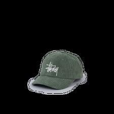 Stüssy Cord Big Logo Low Pro Cap - Olive