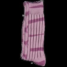 Stüssy Dyed Stripe Ribbed Crew Sock - Lavender