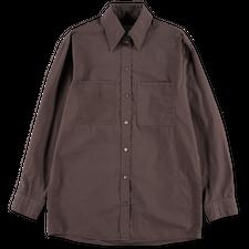 Lemaire W' Patch Pocket Shirt - Chestnut