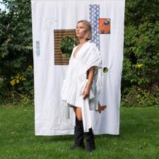 Main Nué                                           Apron mini dress - White