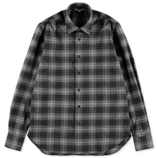 Nitty Gritty® Made By Xacus                        Merino Check Shirt - Grey