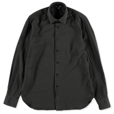 Nitty Gritty® Made By Xacus                        Soft Garment Dyed Cotton Flannel Shirt - Dark Green
