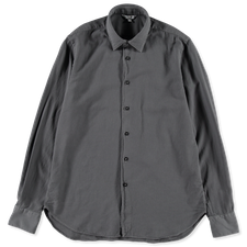 Nitty Gritty® Made By Xacus                        Soft Garment Dyed Cotton Flannel Shirt - Grey