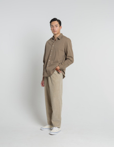 Nitty Gritty® Made By Xacus                        Washed Gabardine Shirt - Light Brown