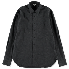 Nitty Gritty® Made By Xacus                        Melange Cotton Shirt - Charcoal