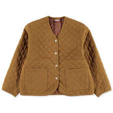 Toast                                              Textured Cotton Quilted Jacket - Sahara Yellow