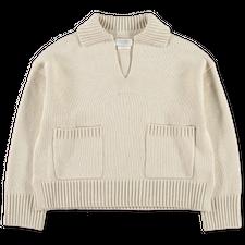 Toast                                              Wool Cotton Sailor Sweater - Bone