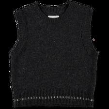 Toast                                              Neat Wool Knit Tank - Charcoal