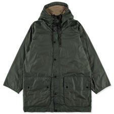 Barbour White Label                                  Hiking Wax Coat - Forest Green