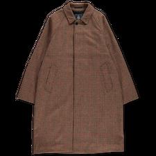 J.Press                                            Lovat Tweed Balmacaan Coat - Gun Club Check