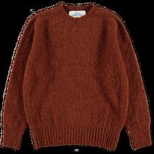J.Press                                            Shaggy Dog Sweater - Rust