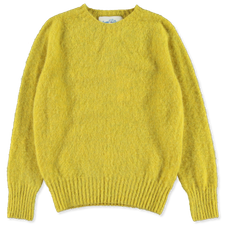 J.Press                                            Shaggy Dog Sweater - Yellow