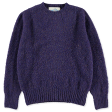 J.Press                                            Shaggy Dog Sweater - Purple
