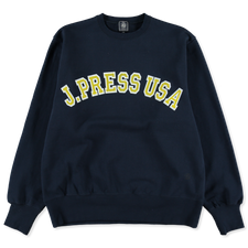 J.Press                                            Recycled Supima Logo Sweatshirt - Navy