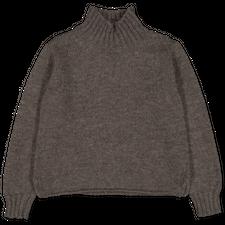 Margaret Howell MHL Wide Neck Sweater - Dark Natural