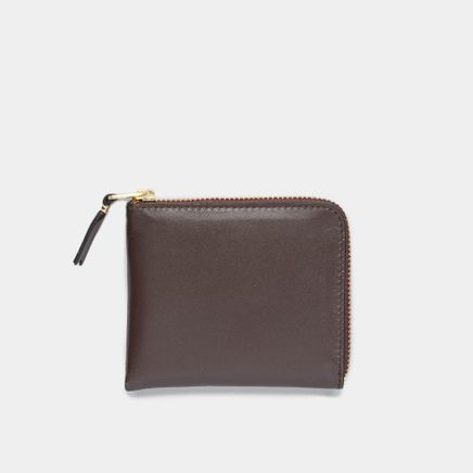 Half Zip Wallet Brown